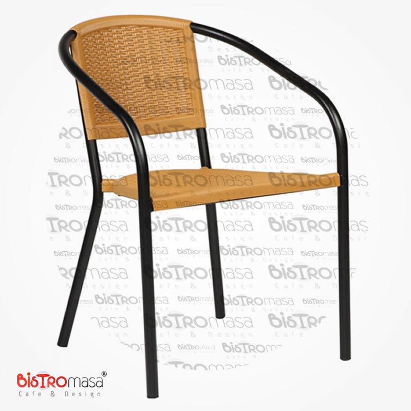 Narin Dış Mekan Cafe Sandalyesi Hardal Renk
