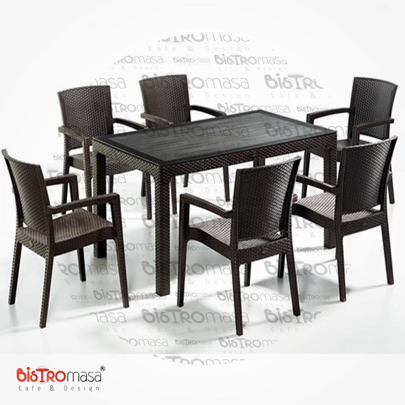 Dis Mekan Cafe Masa Sandalye Takimi DISCMT002