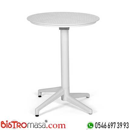 Ay Katlanır Beyaz Cafe Masası DİSCM003