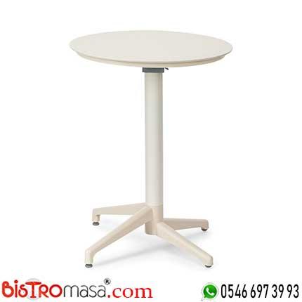 Ay Katlanır Krem Cafe Masası DİSCM002
