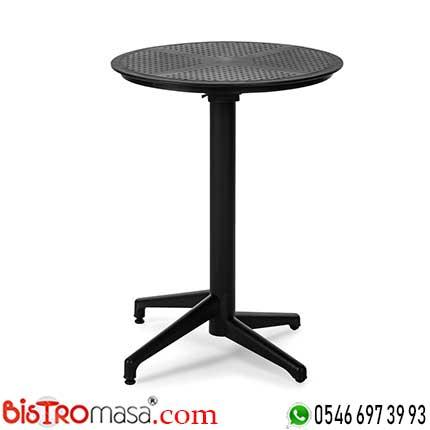 Ay Katlanır Siyah Cafe Masası DISCM001