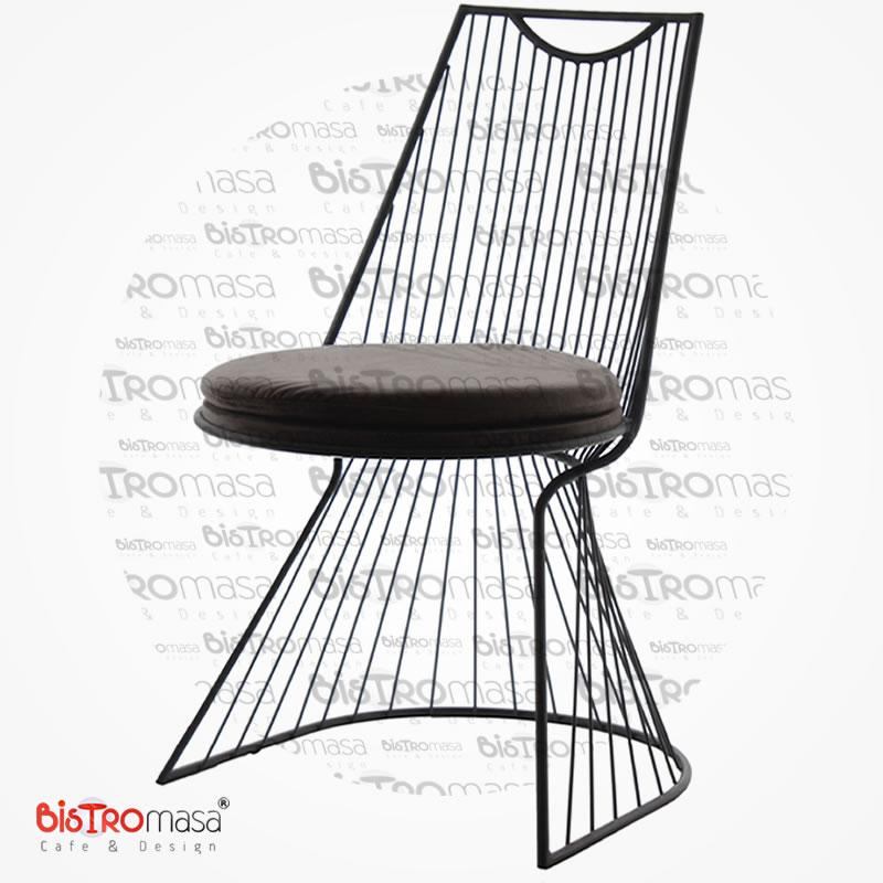 Lord Siyah Renk Cafe Sandalyesi