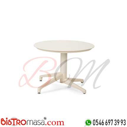 Ay Dış Mekan Beyaz Cafe Sehpası DISSP003