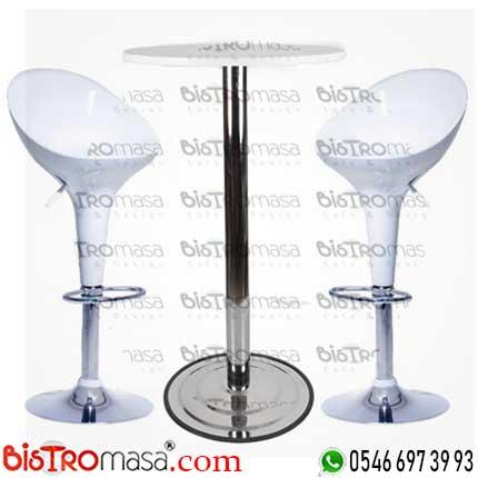 Elit Beyaz Bistro Masa Seti EBMS002BE