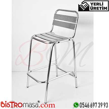 Eros Dış Mekan Alüminyum Bar Sandalyesi EDMABS002