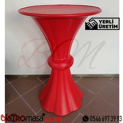 Kırmızı Plastik Bar Masası KBMP001