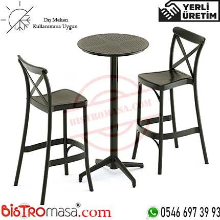 Cupa Dış Mekan Bar Masa Sandalye Takımı CBMT004